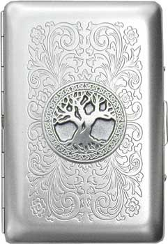 - Celtic Tree of Life Ultra Slim King Florentine Satin Business Card Case (Gift Box Edition)