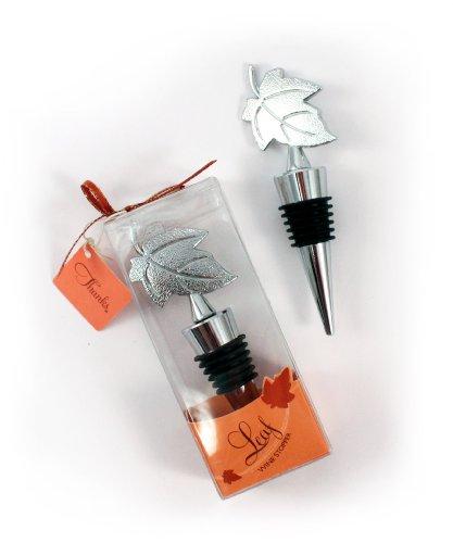 Weddingstar Leaf Wine Stopper in Gift Packaging
