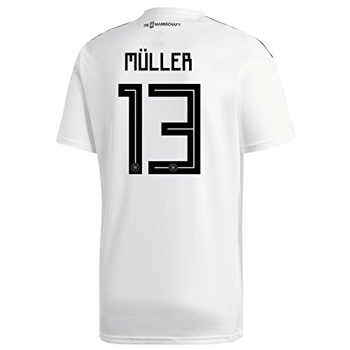 adidas MULLER #13 Germany Home Soccer Stadium Mens S/S Jersey World Cup Russia 2018