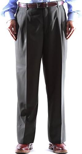 Men`s 100% Virgin Wool Super Gabardine Olive Dress Pants