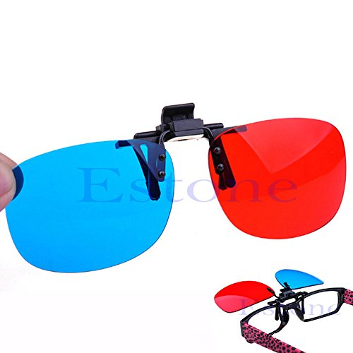 Julianne New Red Blue 3D Glasses Hanging Frame 3D Glasses Myopia Special Stereo Clip Type
