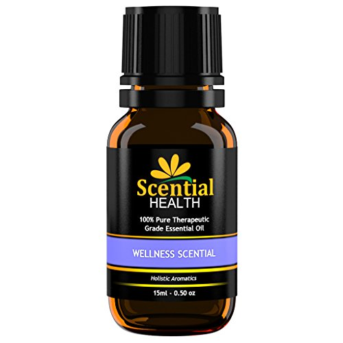 Scential Health Wellness Scential Premium Essential Oil Blend 15ml (.5oz) 100% Certified Pure Therapeutic Grade Essential Oil With No Fillers, Bases or Additives AND ZERO Carrier Oils