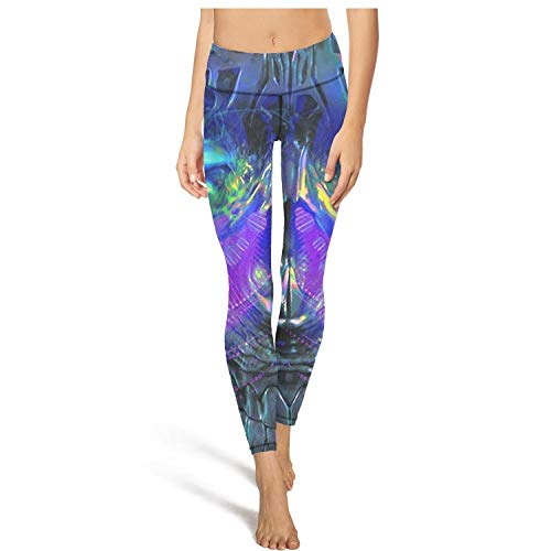 (Classic high Waisted Leggings for Women Outfits Yoga Pants Trippy Trance Mix Gym Leggins)