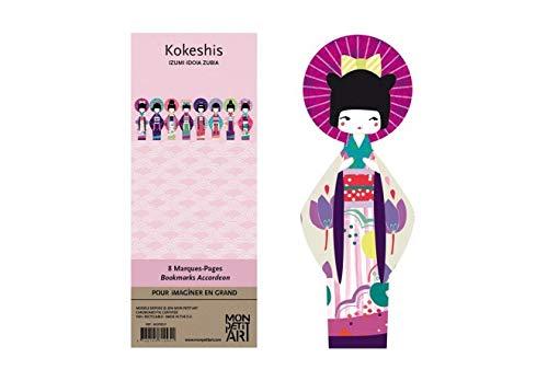 composto da 8 bambole Kokeshis staccabili Segnalibro in Ribamb/ù