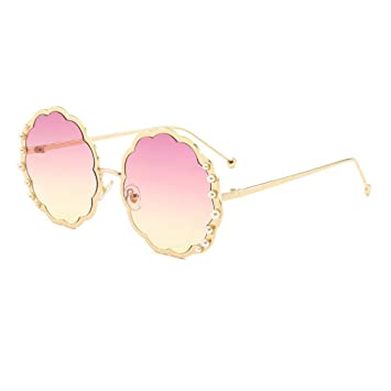 YHgiway Gafas de Sol Redondas para Mujer Fashion Designer ...