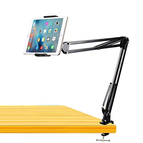 Phone Tablet Mount Holder,Tablet Arm Stand,Cell Phone Mount 360° Rotation Articulating Arm Phone Mount Stand for 7-11inch Tablets/Mobile phonehone Apple iPhone/ipad Mini/ipad Air/Galaxy