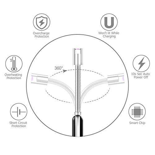 Buy Liramark Usb Rechargeable Windproof Flameless Dual Plasma Arc