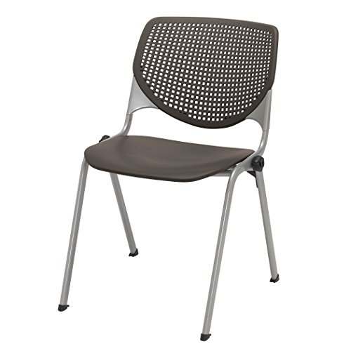 KFI Seating KOOL Series Polypropylene Stack Chair with Perforated Back, Brownstone Finish by KFI Seating