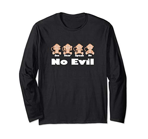 See No Hear No Speak No Do No Evil Monkeys 4 T-Shirt - CWR