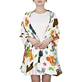 AHOMY Fashion Scarf for Women Africa Animals Tree Deer Evening Shawl Wrap Scarf for Wedding Party Dress