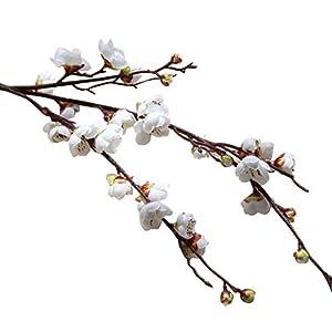 YJYdada Artificial Fake Flowers Plum Blossom Floral Wedding Bouquet Home Decor 2
