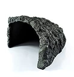 Reptile Rock Hide Cave,Motina Pet Tortoise Escape Habitat Cave,Handcrafed from Premium and Non-Toxic Resin - 10.23 x 9.05 x 5.11 Inches ,Ideal for Small Lizards, Frogs, Turtles, Frogs,Snakes.