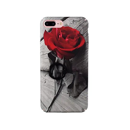 Beautiful Flower Pattern - Iphone 6/6s Marble Case,Jesiya Creative Design Beautiful Red Rose Flower Pattern Wth 360 Degree Roating Ring Stand Case Ultra Thin Cover For Iphone 6/6s 4.7