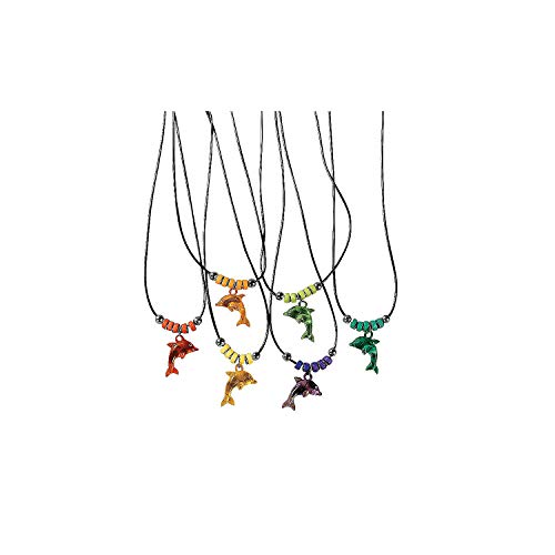 Fun Express Acrylic Dolphin Necklace with Jewel Eyes (1 Dozen) (Discontinued by manufacturer)]()