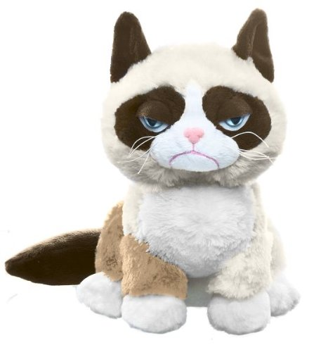 """Ganz Grumpy Sitting Cat 8"""" Plush from Ganz"""