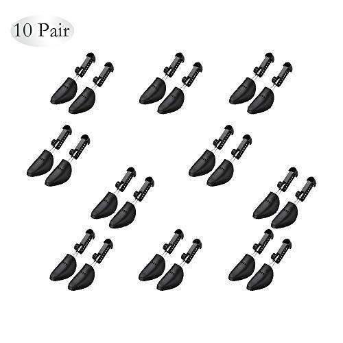 10 x Practical Adjustable Length Women Shoe Tree Stretcher Boot Holder Shaper Support(Black