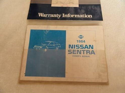 1984 nissan sentra owners manual nissan amazon com books rh amazon com nissan sentra 2015 owner's manual nissan sentra 2015 owner's manual