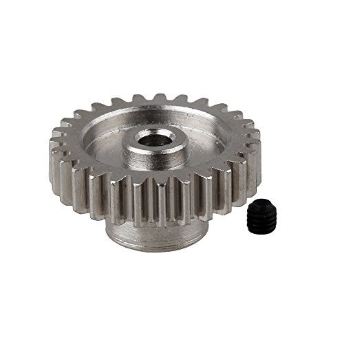20 Tooth Pinion Gear (BQLZR Silver Steel Upgrade Parts A580044 27 Teeth Motor Pinion Gear Replacement for WL RC1:18 A959 A969 A979 k929 Model)