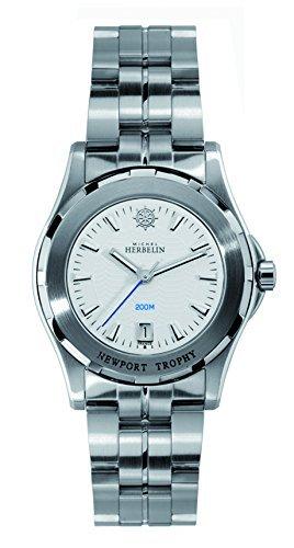 Michel Herbelin 14287-B11 Ladies Newport Trophy Silver Steel Bracelet Watch