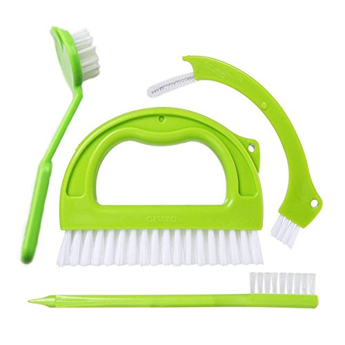 4 Pack Tile Brushes Grout Cleaner, Joint Scrubber for Deep Cleaning, Great Cleaning Brushes for Grout, Floor, Shower, Kitchen, Door Track, Stove Tops