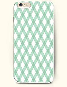 AMB?Blue White Crossed Checks-- Hard Back Case for Apple iPhone 5 / 5S