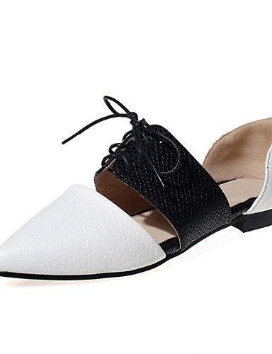 PDX/ Damenschuhe-Ballerinas-Hochzeit / Büro / Kleid / Lässig / Party & Festivität-maßgeschneiderte Werkstoffe-Flacher Absatz-Spitzschuh- white-us9 / eu40 / uk7 / cn41