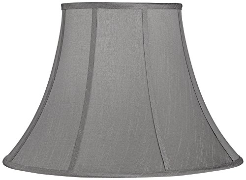 Morell Gray Bell Lamp Shade 9x18x13 (Spider) Gray Bell