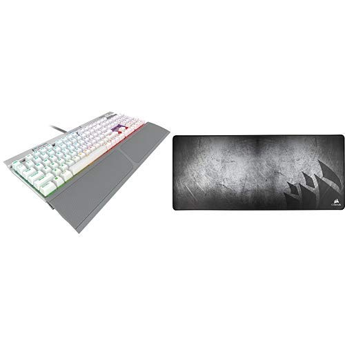 CORSAIR K70 RGB MK.2 SE Mechanical RAPIDFIRE Gaming Keyboard  – PBT Double-Shot Keycaps – Cherry MX Speed   and CORSAIR MM350 – Premium Anti-Fray Extra Thick Cloth Gaming Mouse Pad