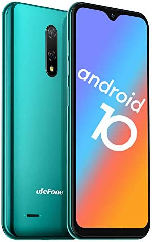 "Unlocked Smartphone, Ulefone Note 8 (2020) Android Phones Unlocked 2GB+16GB, Dual Rear Camera Triple Card Slots, 5.5"" IPS Full-Screen 3G Dual SIM Cell Phone Unlocked, 2700mAh, Face Recognition - Green"