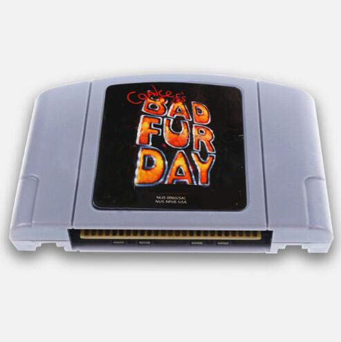 N64 Video Games Conkers Bad Fur Day English Language for 64 bit USA Version Video Game Cartridge Console (Fur Nintendo 64)