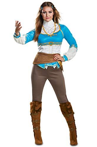 Disguise Women's Zelda Breath of The Wild Adult Costume, Blue, S (4-6) -