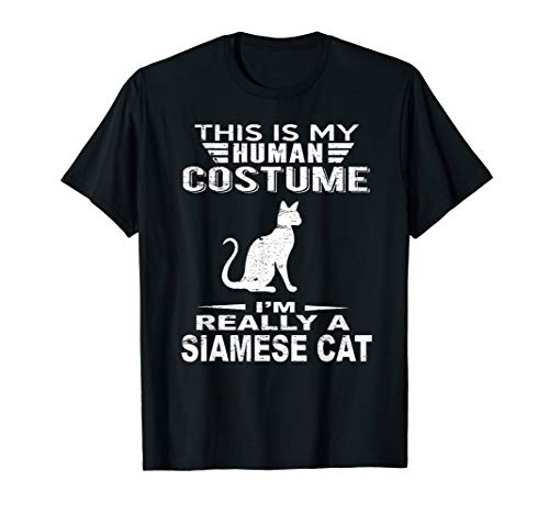 Super Halloween Costume Siamese Cat Tshirt Heart Kids Adults for $<!--$16.95-->