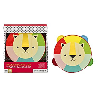 Petit Collage Toddler Wooden Lion Toy Tambourine, Ages 18+ Months: Toys & Games