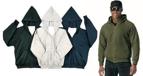 2x-3x-4x Thermal Lined Zipper Hooded Sweatshirt ()