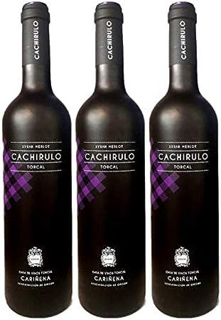 Cachirulo Morado - Estuche 3 Botellas de Vino Tinto - Syrah & Merlot - 2018 - DOP Cariñena - Bodega de quinta generación