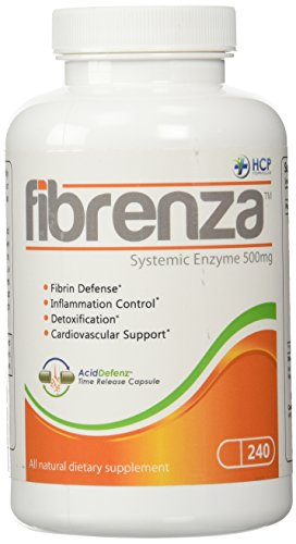 HCP Formulas Fibrenza Systemic Enzyme -- 500 mg - 240 Capsules by HCP Formulas