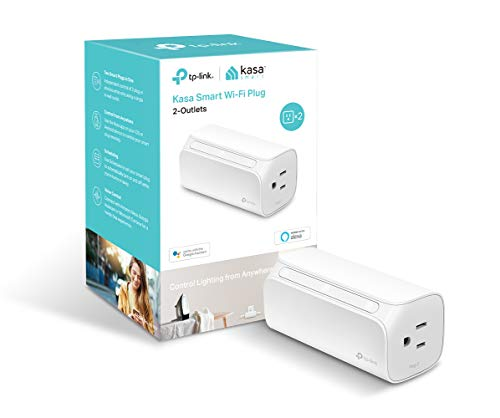 Kasa Smart Plug, 2-Outlets by TP-Link – Reliable WiFi Connection, Double the Outlets, Control from Anywhere, No Hub Required, Works with Amazon Alexa Echo & Google Assistant (HS107)