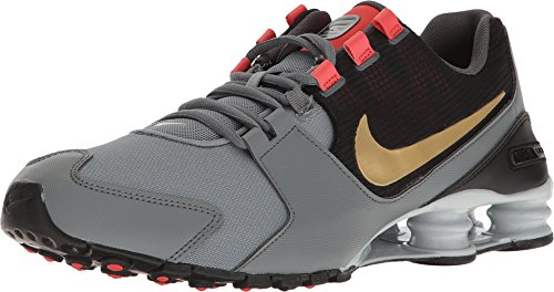 Nike Shox Avenue 833583-007 Cool Grey/Metallic Gold Men's Running Shoes (8.5 D US)