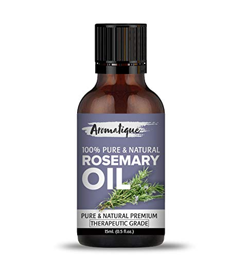 Aromatique Rosemary Essential Oil For Hair Growth,Skin and Body 100% Pure and Natural Therapeutic Grade (15ml)