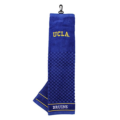 Ucla Bruins Ncaa Pattern - Team Golf NCAA UCLA Bruins Embroidered Golf Towel, Checkered Scrubber Design, Embroidered Logo