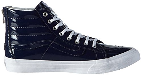 Sk8 Top Sneakers Patent Peacoat Tumble Vans Slim Zip Blue Hi wppqId