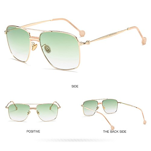 De Green Douerye Libre Polarizadas Al Aire Ocasionales Moda De Gafas Gray Las Cuadradas Sol De Protección Ultravioleta Mujeres Sol La De La De Gafas ZIgrnqI