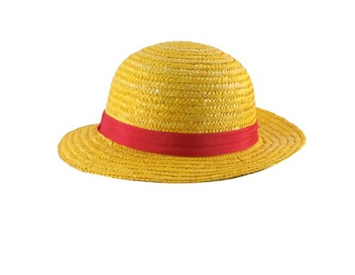One Piece Anime Monkey D. Luffy Straw Hat Cap Cosplay (Yellow)