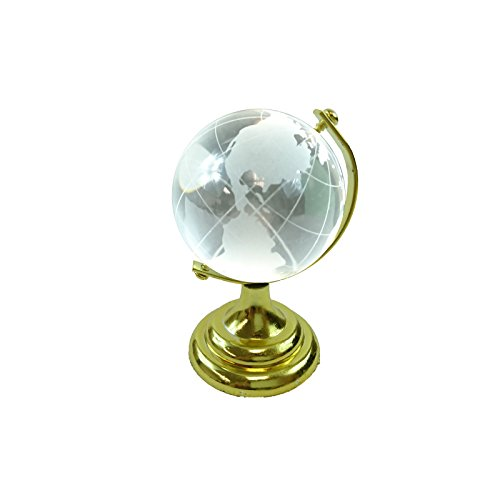 - Hongville Desktop Decorative Clear Glass Earth World Globe Stand