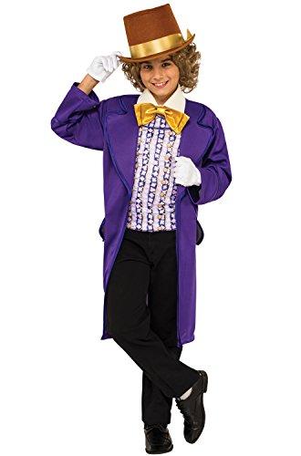 Rubie's Costume Kids Willy Wonka & The Chocolate Factory Willy Wonka Value Costume, (Hat Factory Halloween)