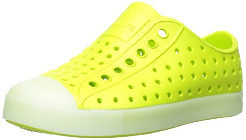 Native Jefferson Slip-On Sneaker,Chartreuse Green Glow,11 M US Little Kid