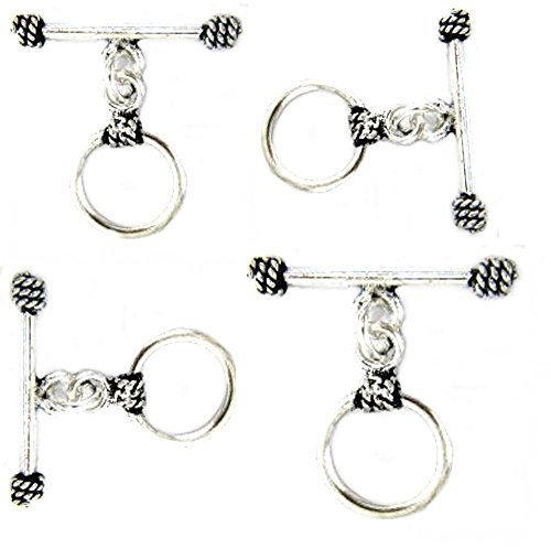5sets Indian Silver Toggle Clasp for Jewelry Making TVT-Y1
