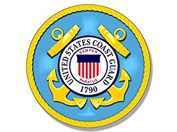 MAGNET ROUND U.S. Coast Guard Seal Magnet(decal us logo vet veteran) Size: 4 x 4 inch