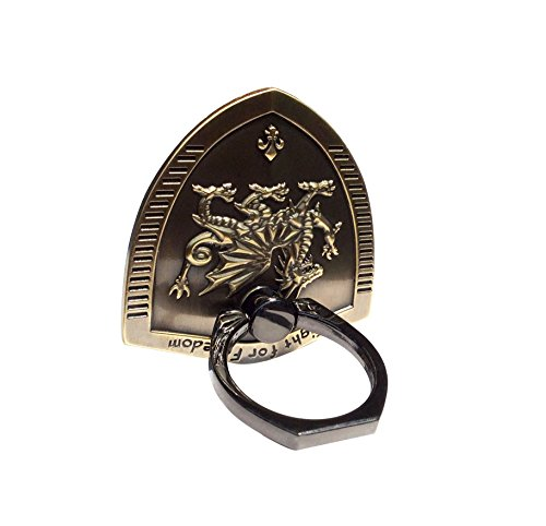 Sunliya Cell Phone Ring Stand Holder, Unique Metal Shield Universal Ring Holder 360 Degrees Rotating for any Smart Devices Mobile Devices and Tablets(Dragon (Dragon Phone)