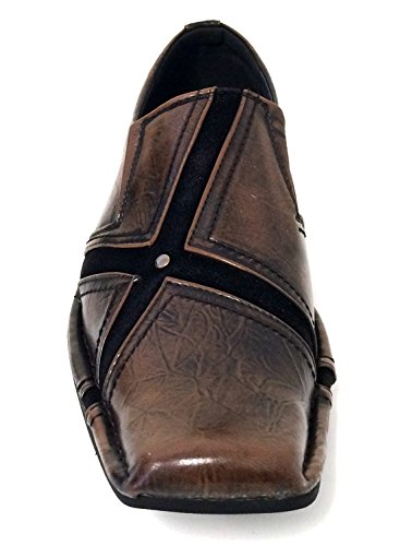 San-04 Uomo Vestito Casual Scarpe Mocassini Moda Slip On Punta Affusolata In Stile Italiano Nero, Marrone, Bordeaux Marrone